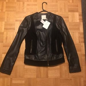 BNWT Joie leather jacket size small